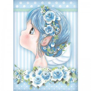 Stamperia Ριζόχαρτο για Decoupage - Light Blue Fairy - A4