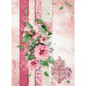 Stamperia Ριζόχαρτο για Decoupage - Flowers For You Pink - A4