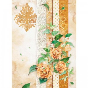 Stamperia Ριζόχαρτο για Decoupage - Flowers For You Ocher - A4