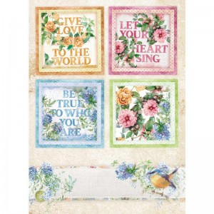 Stamperia Ριζόχαρτο για Decoupage - Flowers For You Cards - A4