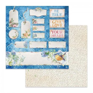 Χαρτί Scrapbooking Stamperia Διπλής Όψης - Flowers For You Tag And Tickets - 31x30cm