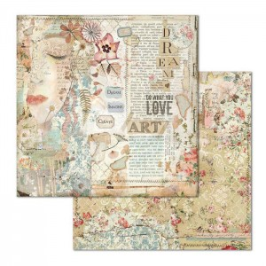 Χαρτί Scrapbooking Stamperia Διπλής Όψης - Love Art Face - 31x30cm