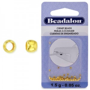 Στοπάκια Beadalon Crimp Beads Gold Color Size#0 ~200τεμ
