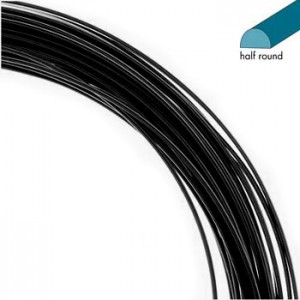 Σύρμα Half Round - Black Non Tarnish - 0.72mm - 6.6m