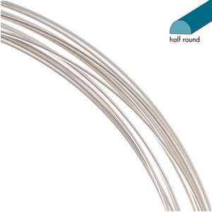 Half Round 0.72mm Silver Plated 3.65m