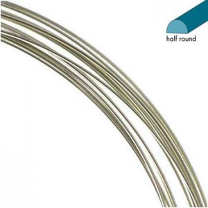 Σύρμα Half Round - Titanium Color Non Tarnish - 0.72mm - 3.7m
