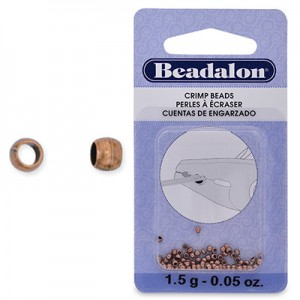 Στοπάκια Beadalon Crimp Beads Copper Plated Size#1 ~100τεμ
