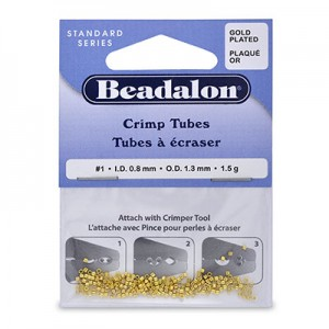Στοπάκια Beadalon Crimp Tubes Gold Color Size#1 ~160τεμ