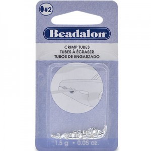 Στοπάκια Beadalon Crimp Tubes Silver Plated Size#2 ~46τεμ