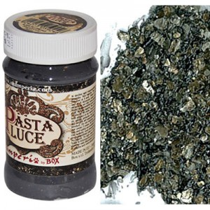Stamperia Πάστα Luce - Black & Gold Flakes - 100ml