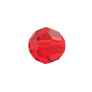 Swarovski 5000 Faceted Round Light Siam 8mm - 6τεμ