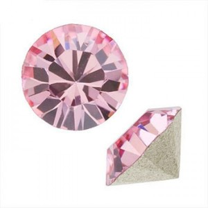 Swarovski 1088 Xirius Chaton Light Rose SS39 Ø8.29x5.1mm - 6τεμ