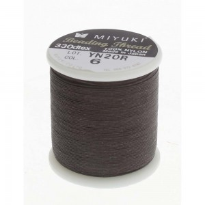Miyuki Nylon Νήμα - Dark Brown - Ø0.25mm - 50m