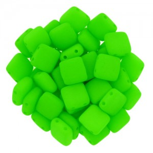 Χάντρα Tile - Bright Neon Green 6mm ~29τεμ