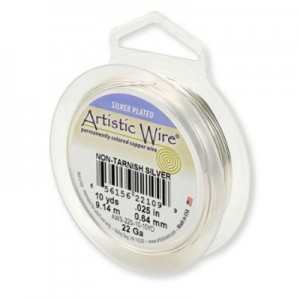 Σύρμα Artistic Wire - Ø0.81mm - Επάργυρο Tarnish Resistant Silver - 7.6m