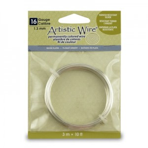 Σύρμα Artistic Wire - Ø1.3mm - Επάργυρο Non Tarnish - 3m