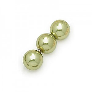 Χάντρα Czech Glass Pearl Ø10mm - Olivine ~50τεμ