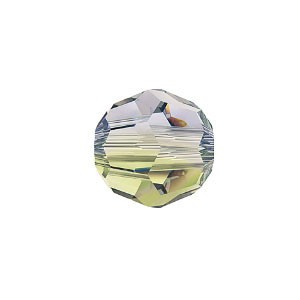 Swarovski 5000 Faceted Round Provence Lavender-Chrysolite Blend 8mm - 6τεμ