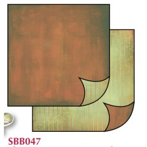 Χαρτί Scrapbooking Stamperia Διπλής Όψης - Brown Fade/Green - 31x30cm