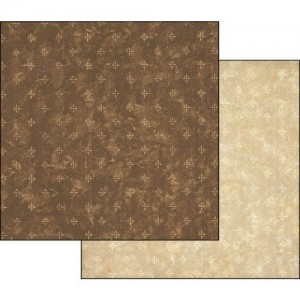 Χαρτί Scrapbooking Stamperia Διπλής Όψης - Brown Dots - 31x30cm
