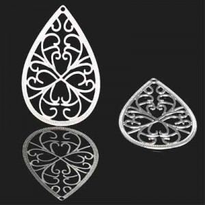 Διακοσμητικό Forever Silver Filigree Teardrop 40x25mm - 1τεμ
