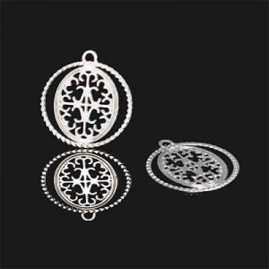 Διακοσμητικό Forever Silver Filigree Medallion 17mm - 2τεμ