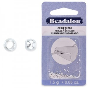 Στοπάκια Beadalon Crimp Beads Silver Plated Size#0 ~200τεμ