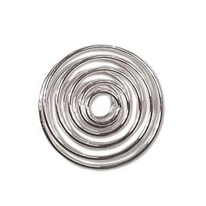 Silver Plated Spiral 11mm - 6τεμ