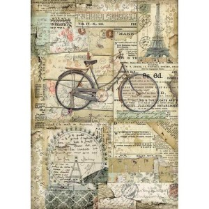 Stamperia Ριζόχαρτο για Decoupage - Bicycle - A4