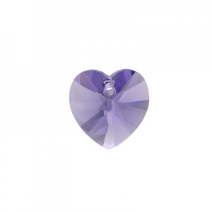 Swarovski Xilion Heart 10.3x10mm Tanzanite 6228/539 - 4τεμ