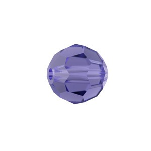 Swarovski 5000 Faceted Round Tanzanite 8mm - 6τεμ