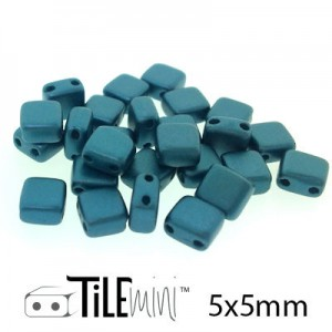Χάντρα Czech Mini Tile™ - Pastel Petrol 5x5mm ~30τεμ