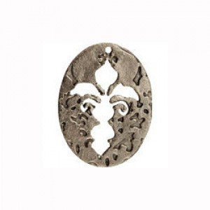 Διακοσμητικό Χυτό Pewter - Cut Out Fleur De Leis - Antique Silver - 1τεμ
