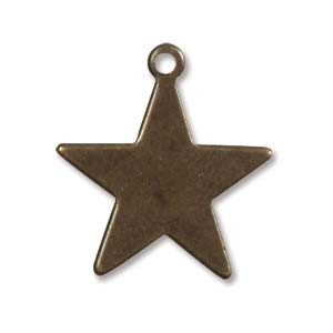Vintaj Brass Tiny Artisan Star 19mm