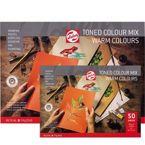 Μπλοκ Talens Warm Colours Mix Toned Papers - 180gr/m² - 50 Φύλλα