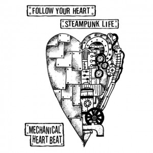 Σφραγίδα Stamperia Εύκαμπτη Antonis Tzanidakis Collection - Mechanical Heart 4 Σχέδια - 15x20cm