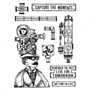 Σφραγίδα Stamperia Εύκαμπτη Antonis Tzanidakis Collection - Capture the Moment 7 Σχέδια - 15x20cm